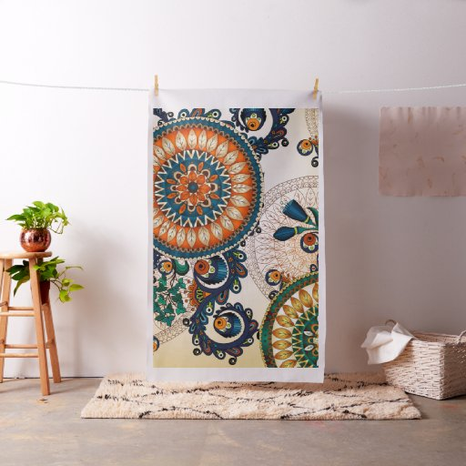 Coca Cola Gifts >> Colorful Bohemian Boho MOD Hippy Chic Pattern Fabric | Zazzle