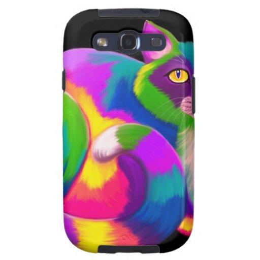 Colorful Calico Cat Galaxy S3 Case | Zazzle