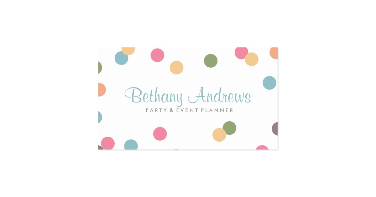 Colorful Confetti Business Cards