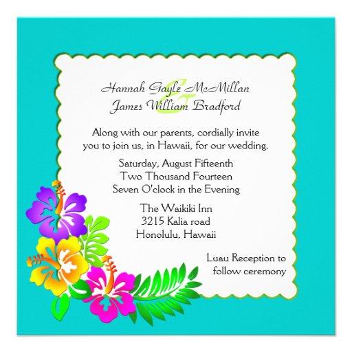 Wedding Invitations Hawaii: 1,000+ Hawaiian Wedding Invitations, Hawaiian Wedding