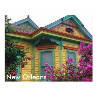 Colorful House in New Orleans Postcard