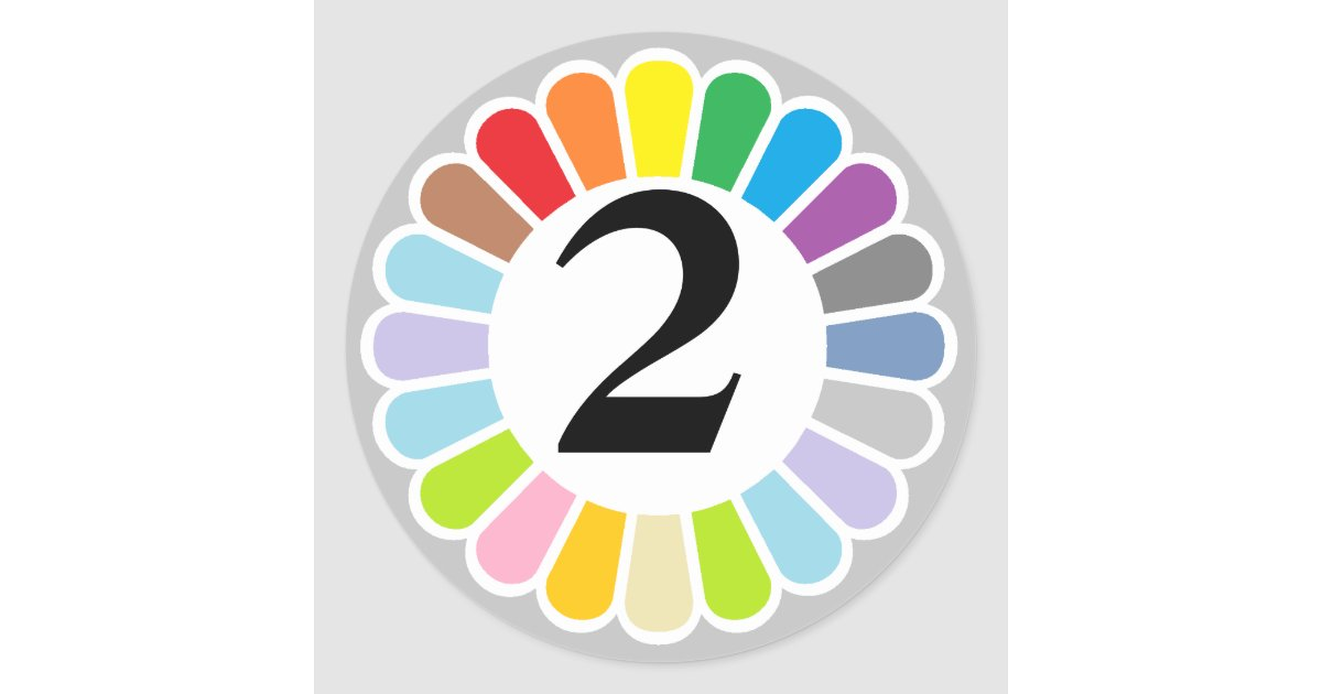 colorful number 2 sticker   Zazzle