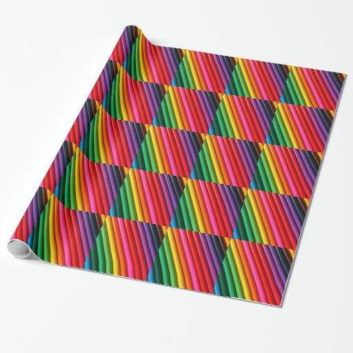 coloring pencils wrapping paper zazzle. Black Bedroom Furniture Sets. Home Design Ideas