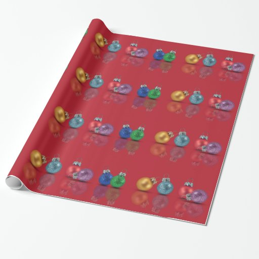 Colourful Christmas Ornaments - Wrapping Paper