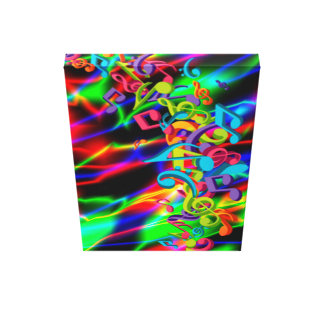 Musical Notes Wrapped Canvas Prints | Zazzle  Musical Notes W...