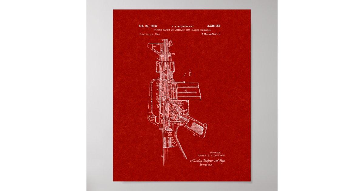 Target Wedding Invitations Kits: Colt AR-15 Semi-Automatic Rifle Patent