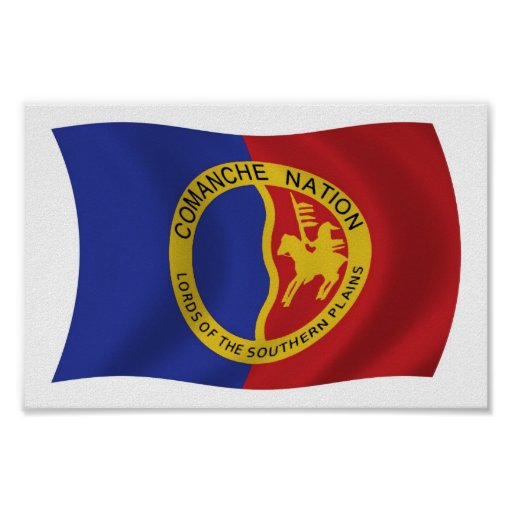Comanche Nation Flag Poster Print | Zazzle