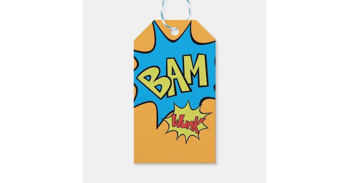 """Balloon Tag: Comic Book """"Bam"""" Balloon Gift Tags"""