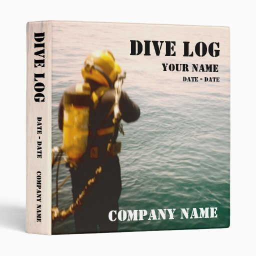 Commercial Or Scuba Diving Log Book Vinyl Binders