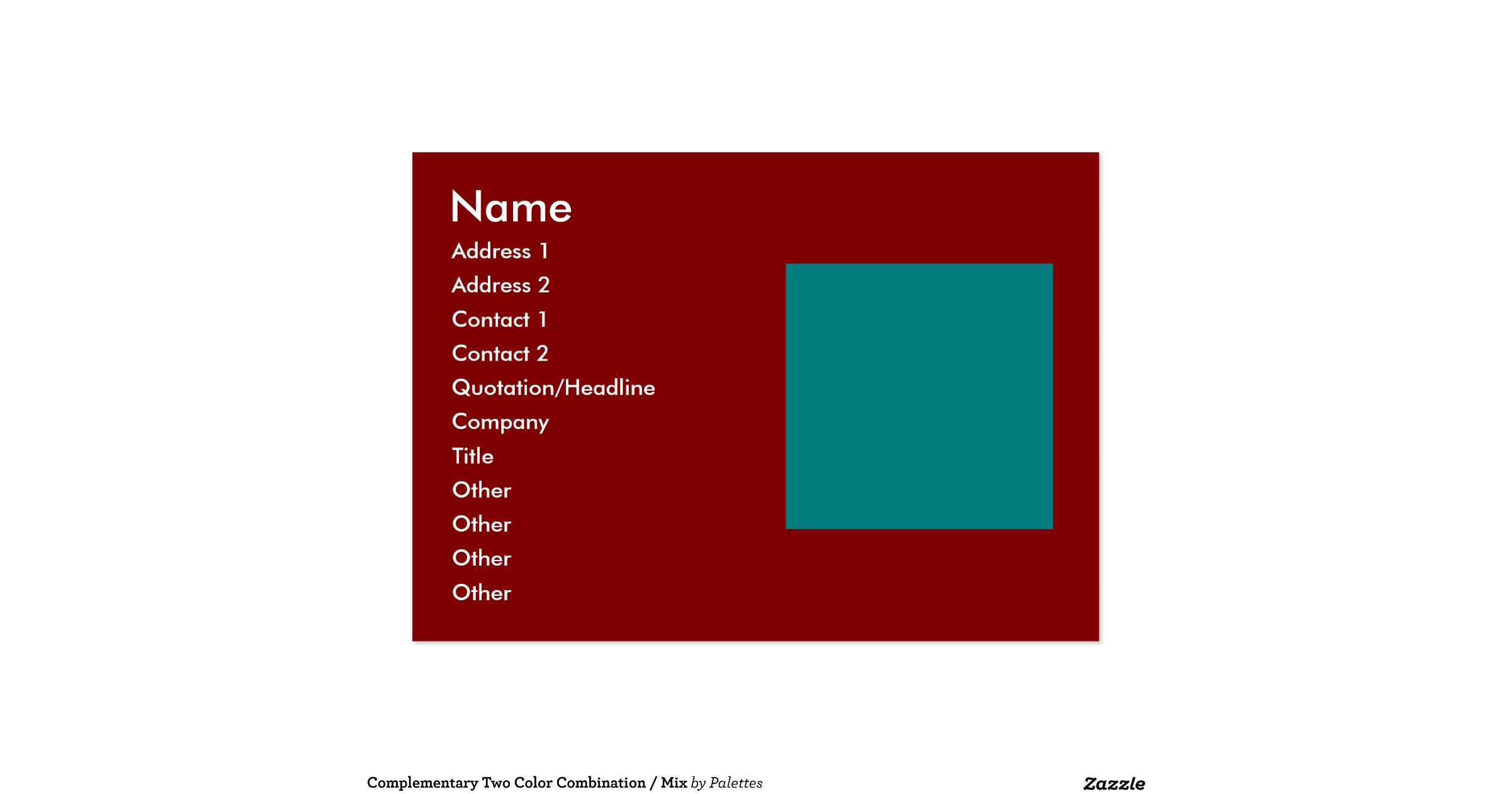 Complementary Two Color Combination / Mix Large Business ...