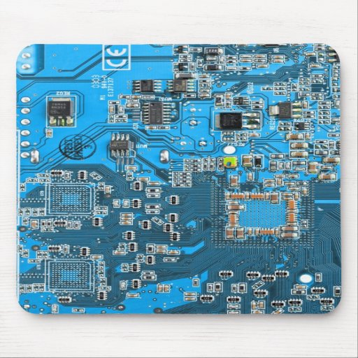 Blue High Technology Circuit Board Business Card Zazzle