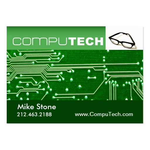 Technician Tech Circuit Board Chubby Business Card Template Zazzle