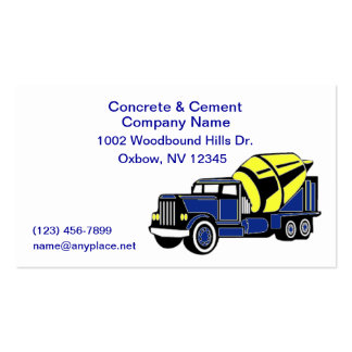 Concrete truck business cards templates zazzle for Concrete pour card template