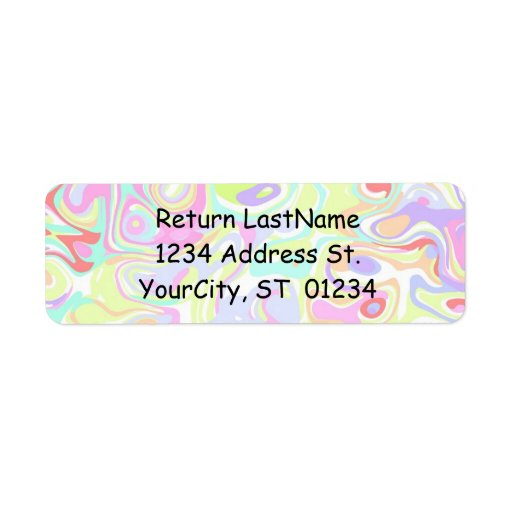 avery 6870 template - confetti avery labels with return address template zazzle