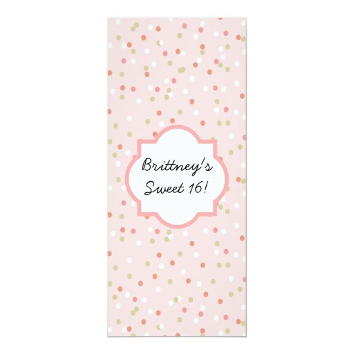 Confetti Cake • Pink Buttercream Frosting Card