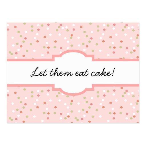Confetti Cake • Pink Buttercream Frosting Postcard