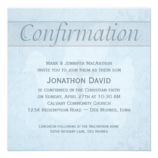 Personalized Lutheran Invitations