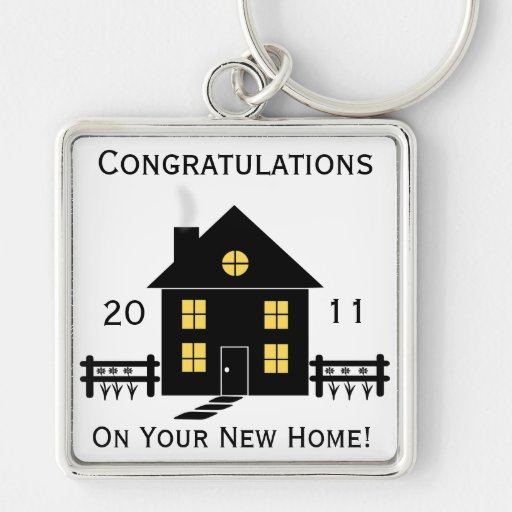 7 Apps To Use While Designing And Building Your New Home: Congratulations New Home House Key Chain