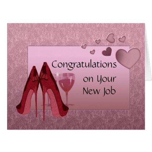 Congratulations Quotes New Job Position: Congratulations On New Job Greeting Card