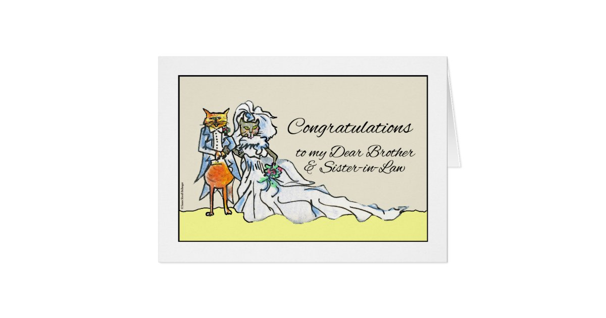 Wedding Gifts For Sister And Brother In Law: Congratulations On Wedding, Brother, Sister-in-Law Card