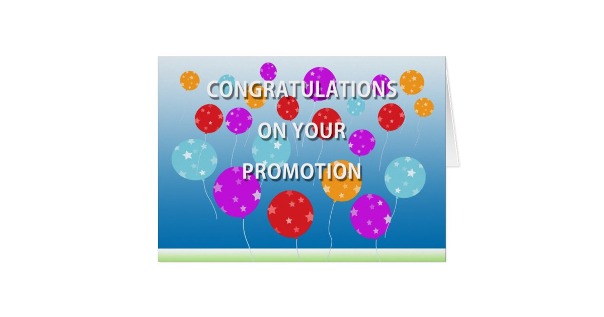 Congratulations for promotion