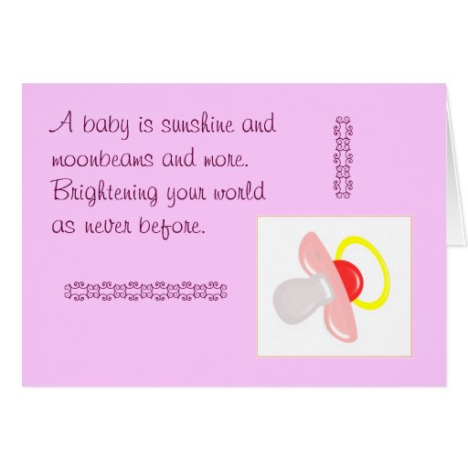 Baby Shower Message For Card: Congratulations Or Baby Shower Greeting Cards