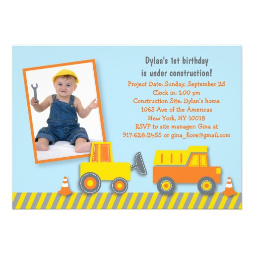 Personalized Digger Invitations