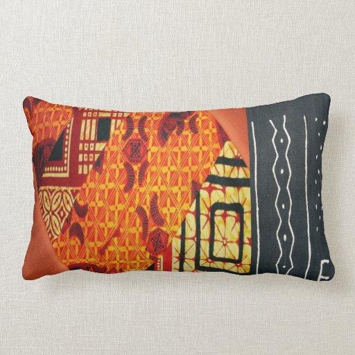 Contemporary African Style Design Lumbar Pillow Zazzle
