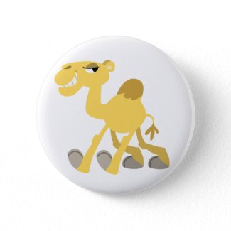 Cool and Cute Cartoon Camel Button Badge button