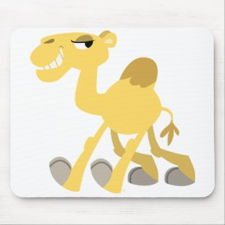 Cool and Cute Cartoon Camel Mousepad mousepad