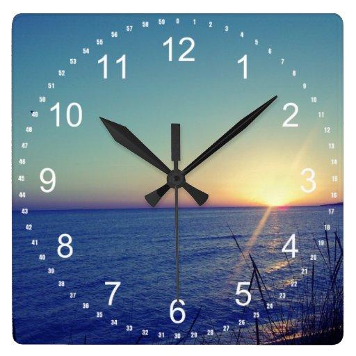 Cool Beach Square Wall Clock Zazzle