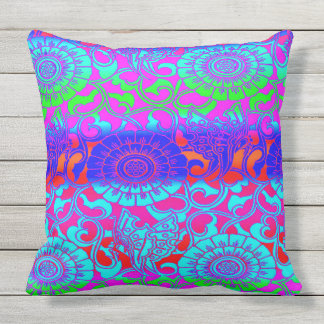 Bright Colors Outdoor Pillows Amp Cushions Zazzle