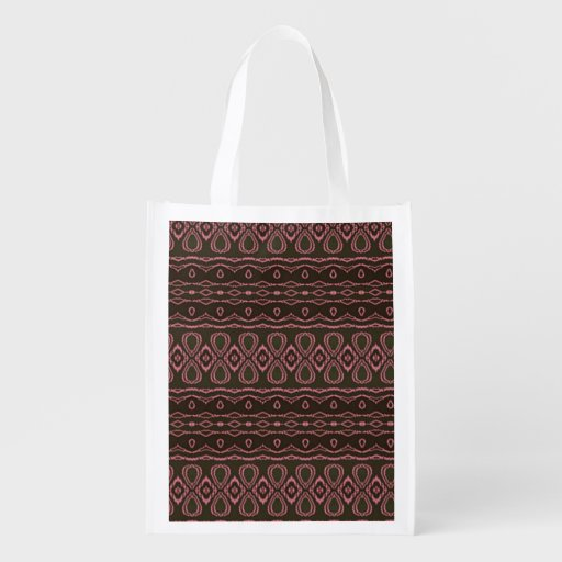 Cool Colorful Pattern Reusable Grocery Bags Zazzle