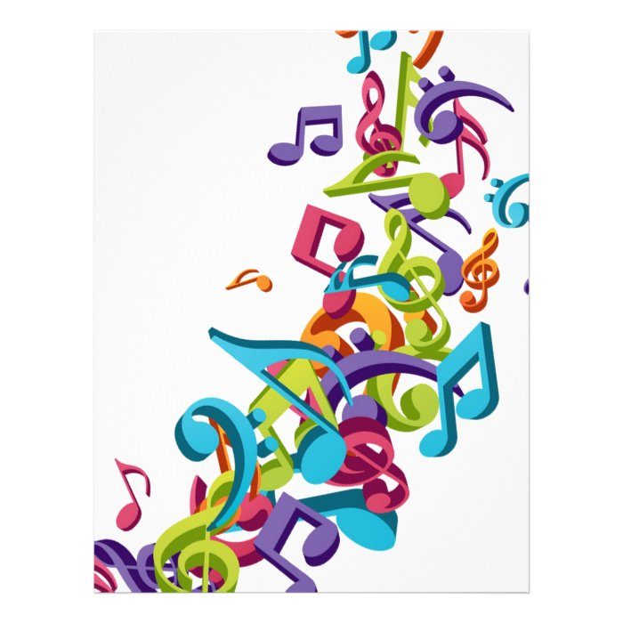 cool colourful music notes and sounds personalized flyer on PopScreen