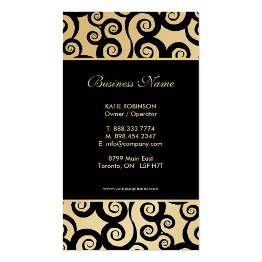 Fashion designer Business Card Templates | BizCardStudio