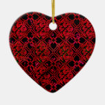 Cool Grunge Red Medieval Print Christmas Tree Ornament ...