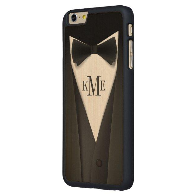 huge selection of c23de a7ef0 Cool Mens Tuxedo Suit Pattern - Manly Monogram Carved® Maple IPhone 6 Plus  Case