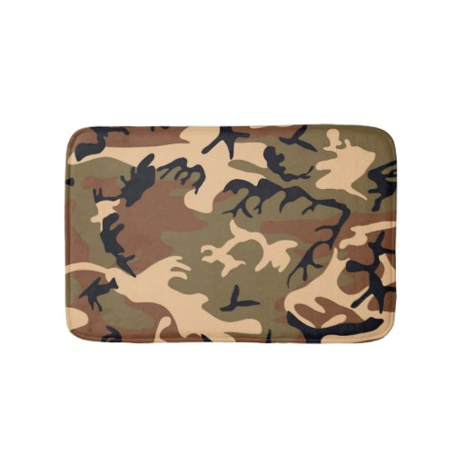 Camo Bathroom Rugs: Cool Modern Camouflage Camo Design Bath Mat