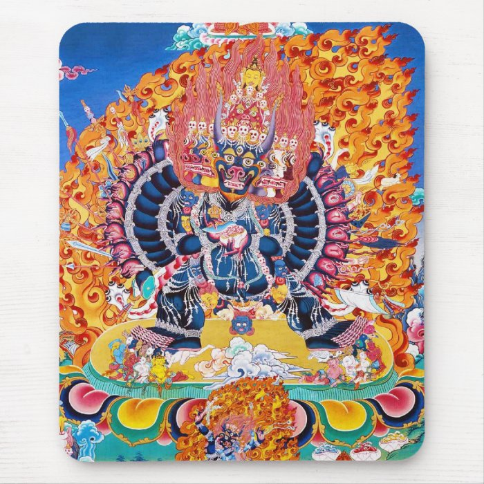 879102f9d Cool oriental tangka Yamantaka death god tattoo Mousepad on PopScreen