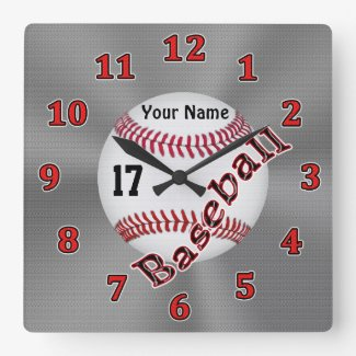 Cool Personalized Baseball Clocks NAME and NUMBER CLICK HERE