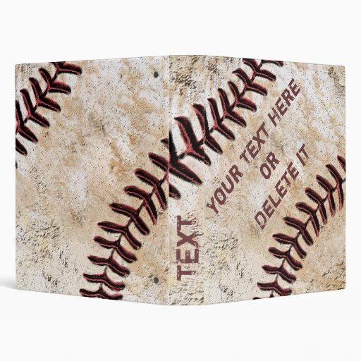 Cool PERSONALIZED Baseball Three Ring Binder
