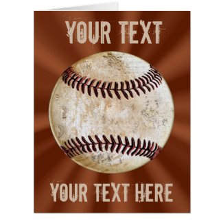 Cool Personalized Vintage Baseball Card YOUR TEXT Cards