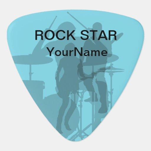 cool rock star guitar picks zazzle. Black Bedroom Furniture Sets. Home Design Ideas