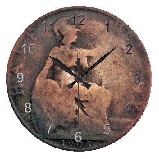 Copper Half Penny Coin Clocks Zazzle