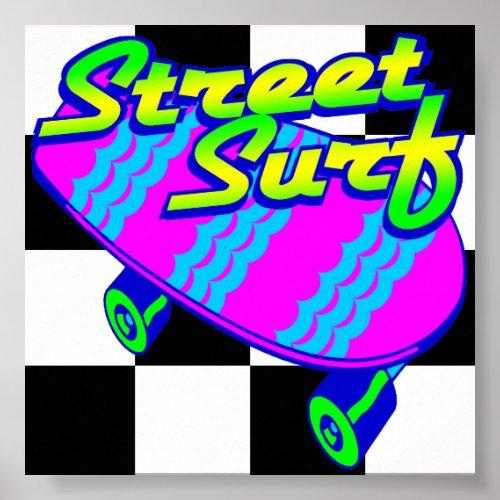 Corey Tiger 80s Retro Street Surf Skateboard Poster