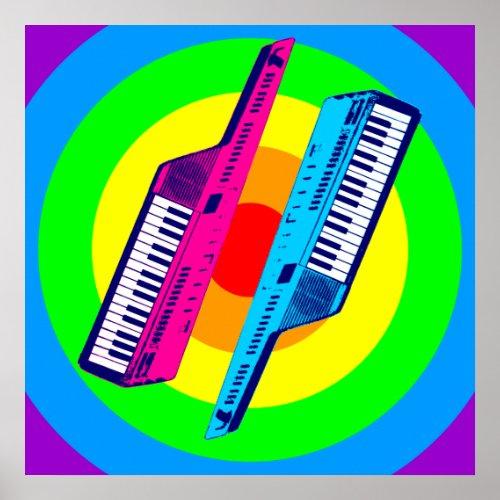 Corey Tiger 80s Retro Vintage Keytar Synth Poster