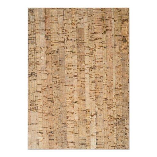 Cork Wedding Invitations: Cork-oak Pattern 5x7 Paper Invitation Card