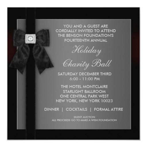 Corporate Black Tie Event Formal Template Invitation Zazzle