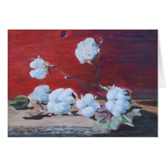 Cotton Boll Still Life Stationery Note Card