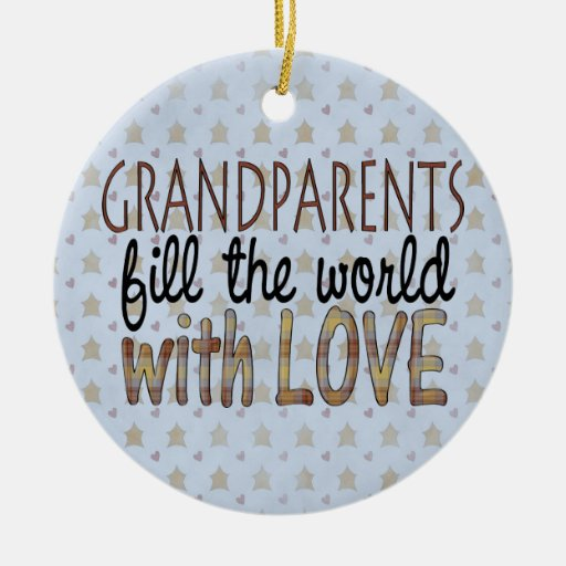 Country Christmas Grandparents Love Ornament   Zazzle